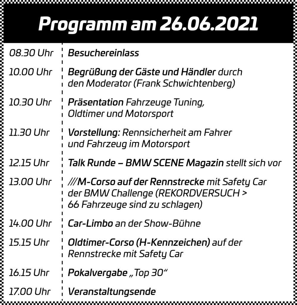 Programm für die BMW SCENE SHOW 3.0